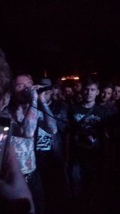 Frank Carter in the crowd